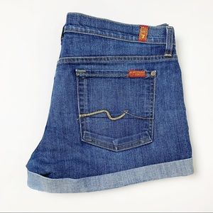 7 For All Mankind Denim Jean Shorts 32